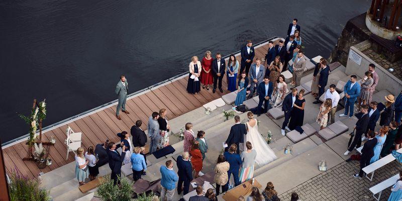 Hochzeit auf dem Steg